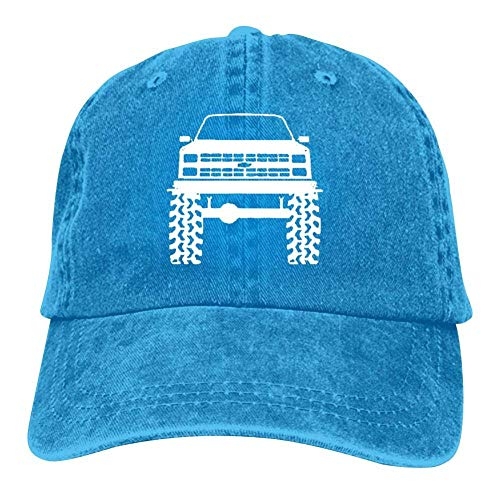 j65rwjtrhtr Mütze Hut Unisex 1980's 90's K5 Bla-zer Lifted Mud Tires Truck Baseball Caps Vintage Jeans Denim Cotton Adjustable Hat