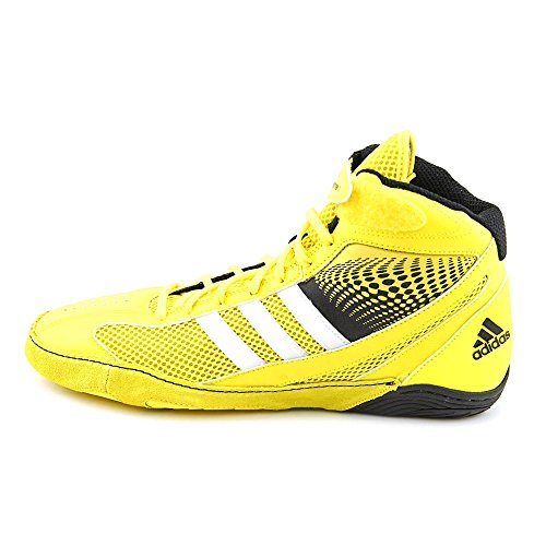 Adidas Response 3.1 Wrestling Chaussures - Noir / gris / blanc / or solaire - 5 Bright Yellow/Silver/Black