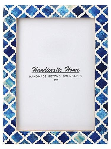 Marokkanische Schlafzimmer Dekor (Handicrafts Home 5x7 Bild Foto Rahmen maurisch Damast marokkanisch Kunst Inspiriert Jahrgang Mauer Dekor Geschenk Rahmen [5x7 Blau])