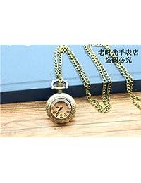 ShopyStore Bronze 2017 Retro Bronze Vintage Hollow Quartz Pocket Watch Flower Enamel Women Men NEC