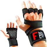 Fitness Handschuhe Trainingshandschuhe Atmungsaktiv Mit Handgelenkstütze und Anti Rutsch...