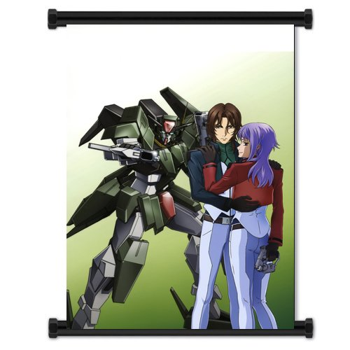 Mobile Suit Gundam 00 Anime Fabric Wall Scroll Poster (31x44) Inches - Suit Gundam 0080 Mobile