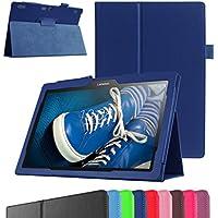 "Lenovo Tablet2-X30F / A10-30 Funda,Mama Mouth Slim PU Cuero Con Soporte Funda Caso Case para 10.1"" Lenovo TAB 2 A10-30 / Tablet2-X30F Android 5.1 Tablet,Azul oscuro"