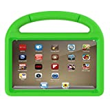 Protective Case, ADESHOP Kids EVA Safe Rubber Stand Handle Case For Amazon Kindle Fire HD 8 2017 7th (Green) image