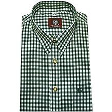 Orbis Trachten Hemd khaki-grün weiß kariert Forst Wandern Jagd OS-0067 Regular