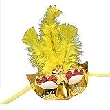Maschere Maschera viso visiera guardia del domino fronte falso Halloween festa da ballo mezza faccia retrò spettacolo principessa sexy maschera oro