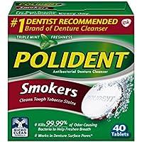 Polident - Fumeurs Dentier Démaquillant, 40 Count