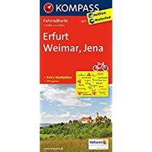 Erfurt - Weimar - Jena: Fahrradkarte. GPS-genau. 1:70000: Fietskaart 1:70 000 (KOMPASS-Fahrradkarten Deutschland, Band 3077)