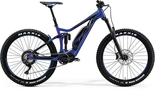 Herren E-Mountainbike Fully 27.5+ Zoll blau - Merida E-Bike eOne-Sixty 800 - Rock Shox Gabel, Akkukapazität 500Wh
