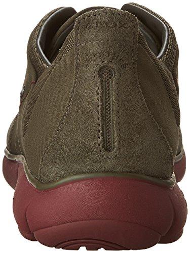 Geox Herren U Nebula F Sneakers Grün (MILITARY/DK REDCA37M)