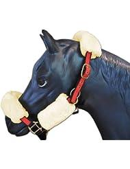 ENGEL GERMANY Protector de la nuca caballo (cabezada / cabestros) piel de cordero natural (Geni)