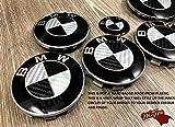 Silber Grau und Schwarz Kohlenstoff Abzeichen Emblem Vinyl Überzug Aufkleber Superwrappz Bezüge für BMW Haube Koffer Felgen Räder für Alle Serie 1, 2, 3, 4, 5, 6, 7, X1, X2, X3, X4,X5,X6, Z1,Z3,Z4,Z8