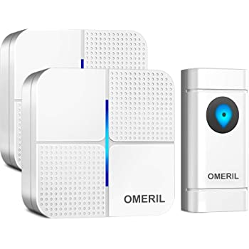 GloEra Wireless Doorbell 2 Wall Plug-in with 52 1000ft Cordless Door Chime Kit