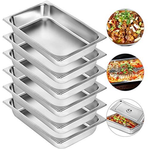 BuoQua Bac INOX Alimentaire 20 x 12 x 4 Pouces Plats à Four Rectangulaire