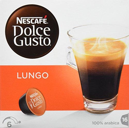 Nescafé Dolce Gusto - Lungo - 3 Paquetes de 16 Cápsulas - Total: 48 Cápsulas