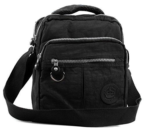 Women Tote Messenger Cross Body Handbag Hobo Bag Ladies Shoulder Bag Purse New (K2018 Plain Black)
