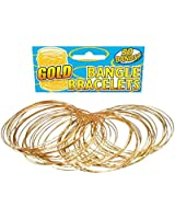 Gold Bangle Bracelets (Pack of 50) - Costume Accessory Accessory