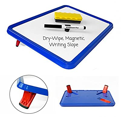 Wedge Whiteboards - Dry-Wipe, Magnetic White Board, Lap Board, Elevated Angled Writing Slope. Great Aid for Developing Handwriting, Improving Motor Skills, or Just for Drawing On by Paul Norman Plastics Ltd