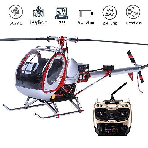 JCZK 300C Hubschrauber Ferngesteuert GPS 6CH RC Helikopter Luftfahrzeuge 450L Heli 6-axis GYRO Flybarless RTF Helicopter Intelligente Drohnen Modell Spielzeug (450 3d Hubschrauber)