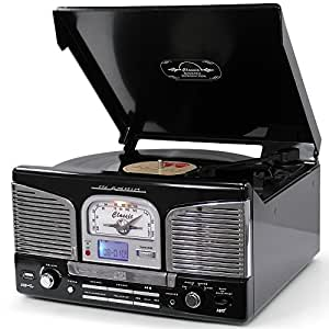 lauson cl141 turntable classic vinyl bluetooth record. Black Bedroom Furniture Sets. Home Design Ideas