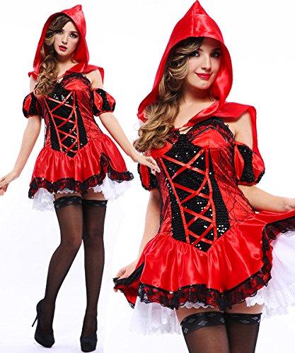 Gorgeous Halloween-Kostüme rot Rotkäppchen -Kostüm Cosplay
