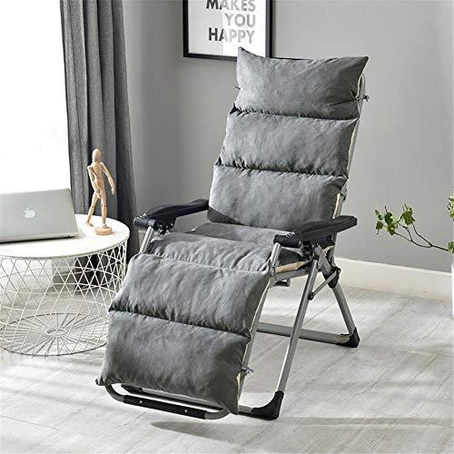 RecoverLOVE Lounge Chaise Cushion Patio Stuhlkissen Abnehmbare Rutschfeste Schaukelstuhl einteiliges Sofakissen Falten Indoor Outdoor Tatami Matratze für Gartenterrasse -