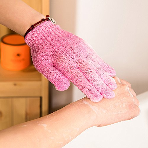 Evana Bath Exfoliating Gloves Nylon Shower Gloves, Bath Scrubber, Body Spa Massage Dead Skin Cell Remover for Man and Women (Color available)