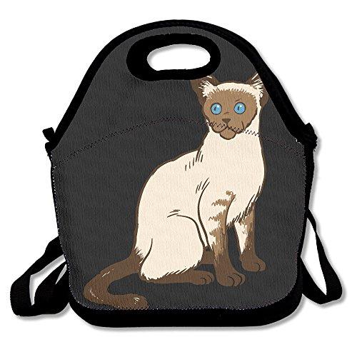 Druck Lunch Box Siamkatze Lunch Bag (Nase Lecken)