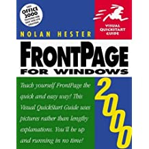 FrontPage 2000 for Windows (Visual QuickStart Guide) by Nolan Hester (1999-09-24)