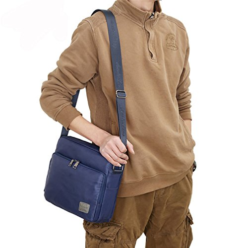 Outreo Borsa Tracolla Vintage Borse Spalla Borsello Nylon Sacchetto Tablet Sport Tasca Donna Borsetta Uomo Messenger Bag Viaggio Blu