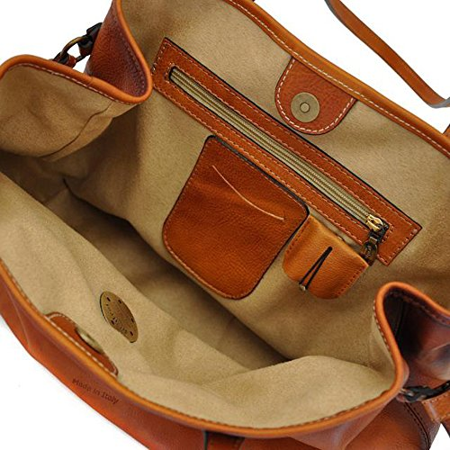 Pratesi Sicile cuir italien âgé de sac à bandoulière sac à main bleu pâle