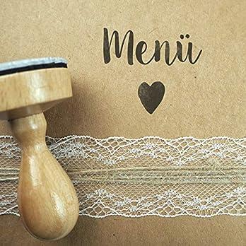 Stempel Hochzeit – Menü – Serie: Konfettiherz – Menükarten Tischkarten