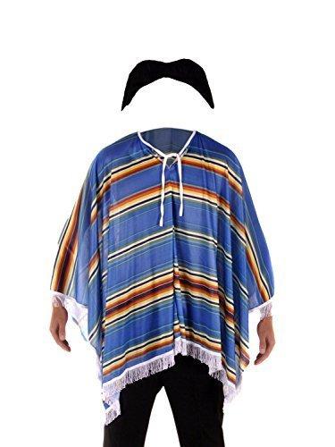 Kostüm Mexikanischer Bandit - für Herren - Poncho & Schnurrbart