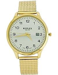 Montre Reflex Homme avec Date & Bracelet Extensible en Acier Inoxydable Doré