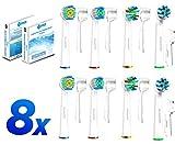 Aufsteckbürsten Variety Pack für Oral B aufsätze elektrische Zahnbürsten, 2 Bürsten von jedem Typ
