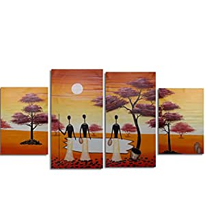 raybre art 100 peinte la main peintures d 39 animaux l phant modernes tableaux africains. Black Bedroom Furniture Sets. Home Design Ideas
