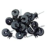 RING INSULATORS x 100 Electric Fencing Fence Screw In For Wooden Posts Wire Bild