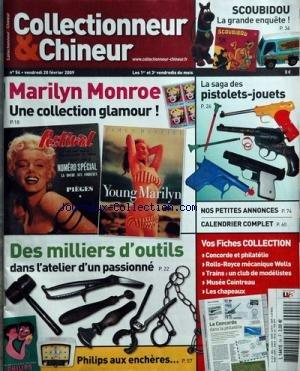 TIMBRES MAGAZINE [No 54] du 20/02/2009 - scoubidou, la grande enquete la saga des pistolets-jouets marilyn monroe, collection glamour des milliers d'outils dans l'atelier d'un passionne philips aux encheres par Collectif