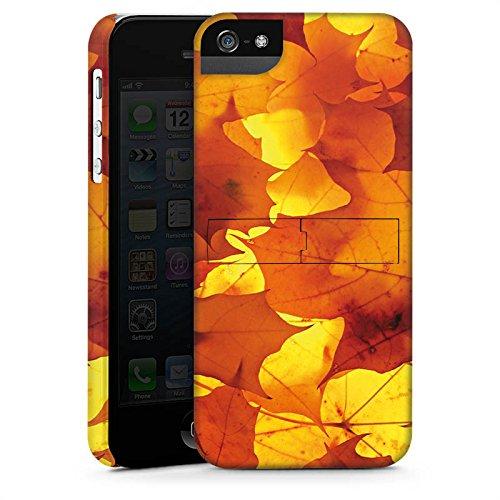 Apple iPhone X Silikon Hülle Case Schutzhülle Herbst Blätter Laub Premium Case StandUp