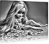 Pixxprint Bambola bionda Pullip con GabbiaStampa su Tela 60x40cm XXL Artistica murale