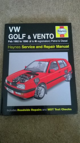 vw-golf-and-vento-92-96-service-and-repair-manual-haynes-service-and-repair-manuals