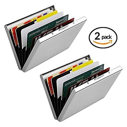 URAQT Porte-Carte de Crédit/visite / Porte monnaie/RFID lutte contre Criminel de Scanning - Cool Etui de Carte de Visite Slim Métal- Porte-carte de vsite
