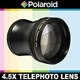 """Super téléobjectif 4.5x de Polaroid Studio Series, inclut une housse d'objectif et les couvercles d'objectif pour l'Olympus OM-D E-M5, PEN-E-PL3, PEN-E-PL5, E-PM1, E-PM2, PEN E-P3, PEN E-P2, PEN E-PL1, E-PL2, GX1 Reflex numériques Qui a la ZUIKO Digital ED 14-42mm f3.5 - 5.6 """"Micro"""" 4/3 Zoom Olympus lentille"""