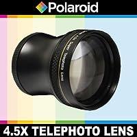 Super téléobjectif 4.5x de Polaroid Studio Series, inclut une housse d'objectif et les couvercles d'objectif pour l'Olympus Evolt E-30, E-300, E-330, E-410, E-420, E-450, E-500, E-510, E-520, E-600, E-620, E-1, E-3, E-5 Reflex numériques Qui avez l'une des (14-42mm, 40-150mm, 70-300mm) Olympus lentilles