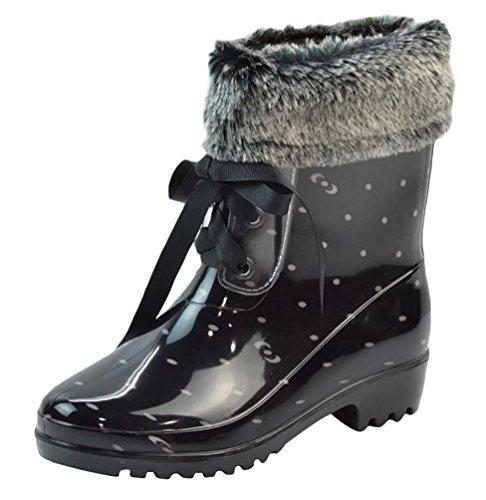 LvRao Damen Hoher Absatz Wasserdichte Schnee Regen Schuhe