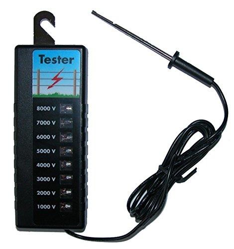 *Zaunprüfer Weidezaun Geräteprüfer bis 8000 Volt 8Stufen*