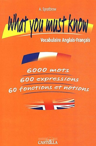 What you must know : Vocabulaire Anglais-Français