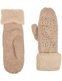 La Modeuse - Moufles en laine entièrement fourrées à l'intérieur