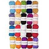 TYH Supplies 20 Skeins Bonbons Yarn Assorted Colors - 100% Acrylic by TYH Supplies