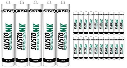 SILISTO Montagekleber MK 25 x 310 ml, Farbe Natur Weiss
